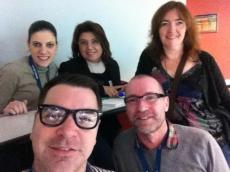 (from bottom left) Tyson Seburn, Steve Muir, Fiona Mauchline, Eva Buyuksimkesyan and myself at TESOL France