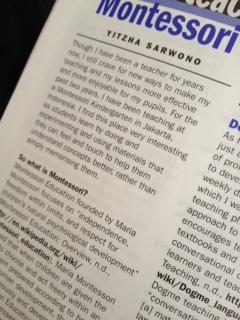 Snapshot of Icha Sarwono's article for ETAS Journal, Switzerland