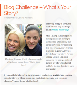 What's Your Story? (A screenshot of my blog challenge)