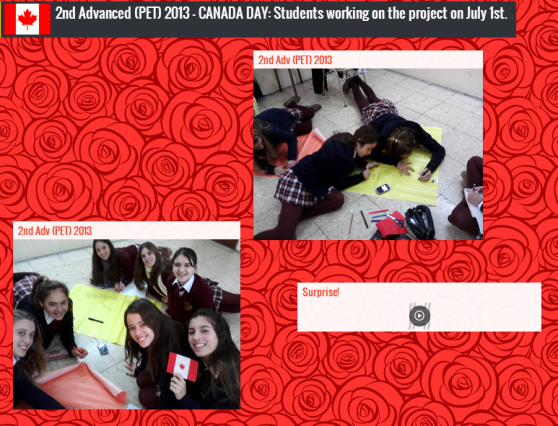 Canada Day with Fabiana and her students!