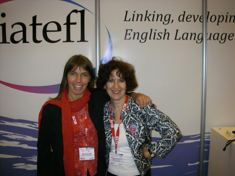 Marjorie with Mercedes Viola at the Annual IATEFL conference in Brighton in 2011
