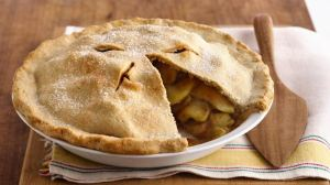 This is a bit what mine looks like - I pinch it around the edges and make little cuts n top and all the goodness form the apples comes out! (Image taken from http://www.bettycrockr.com)